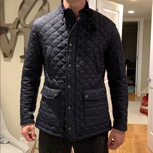 Quilted navy jacket H&M